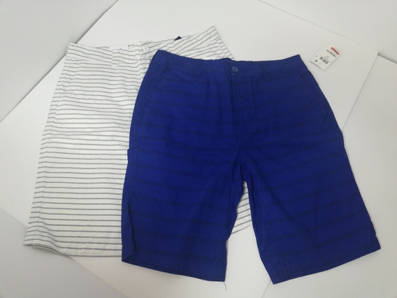 Short Bermuda Niño Talla 18 Univibe Azul Blanco