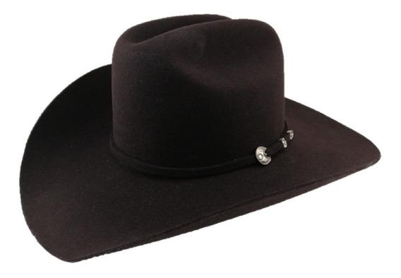 Sombrero Texana 4 X Marca Stetson Chocolate Lana Pelo Búfalo