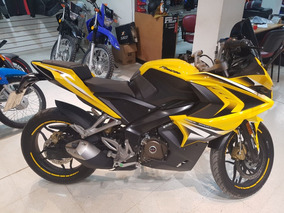 Moto Bajaj Rouser Rs 200 2016 2400km Amarilla