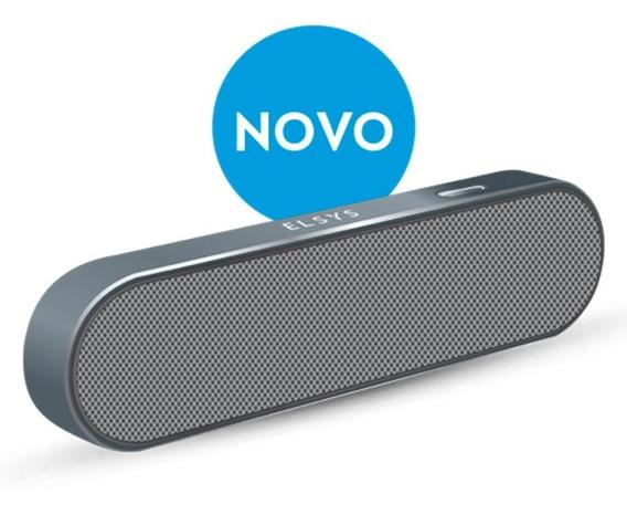 Caixa Som Bluetooth 2 Auto Falantes Elsys Cinza Eas053dm-2