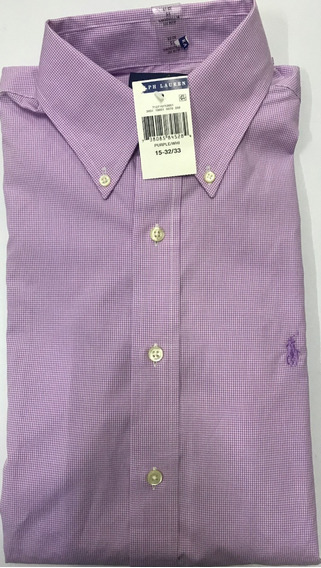 Polo Ralph Lauren Camisa Manga Larga 100% Orig Tall 15 32/33