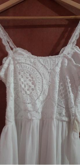 Vestido Branco De Bojo Com Saia De Tule