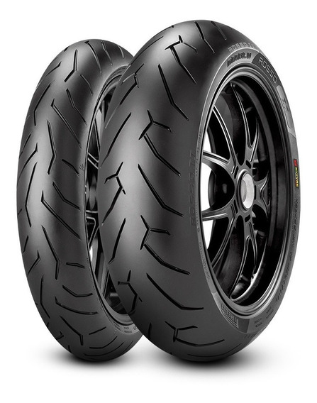 Par Pneu Pirelli Diablo Rosso Honda Cb250 Twister Original