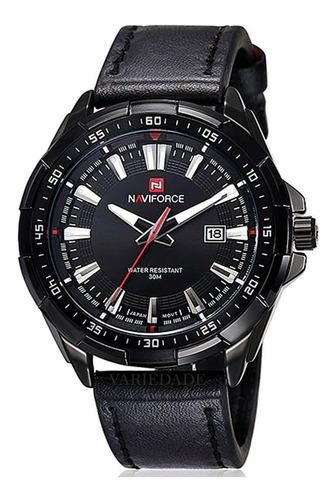 Relógios Naviforce 9056 Original Pulseira Couro Com Caixinha