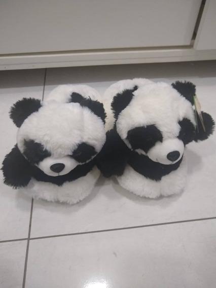 Pantufa De Pelucia Adulto Urso Panda Calça Ate 40