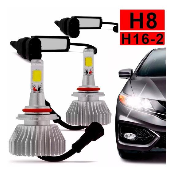 Kit Lâmpada Super Led H8 H16-2 Branca Farol Xenon Automotiva