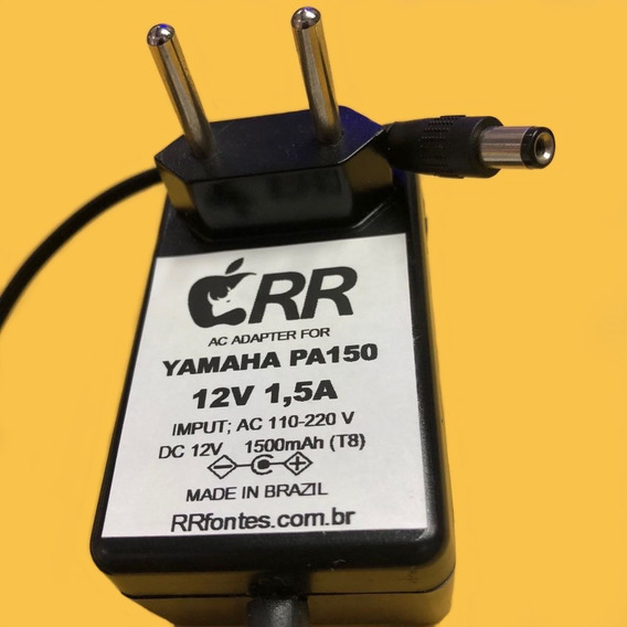 Fonte Carregador 12v 1,5a Para Teclado Yamaha Psr-260 Psr260