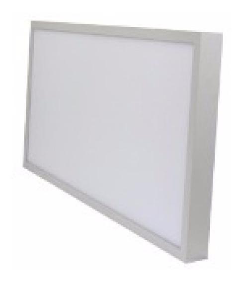 Luminaria Plafon Led 30x60 Sobrepor 36w Blue Branco Frio