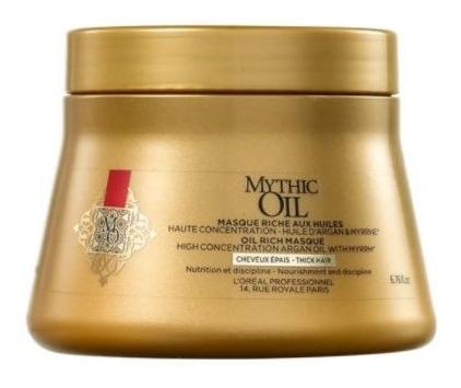 Máscara Mythic Oil Brillo Y Nutricion 200 Ml Loreal Pro