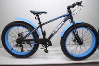 Bicicleta Fat Bike Sbk Rodado 24 Frenos A Discos 7 Vel