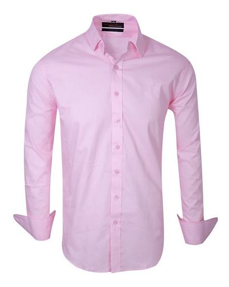 Camisas Elastizadas Hombre Lisas Vestir - Quality Import Usa