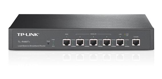 Tp-link Router Red Ethernet Balanceador Firewall Tl-r480t+