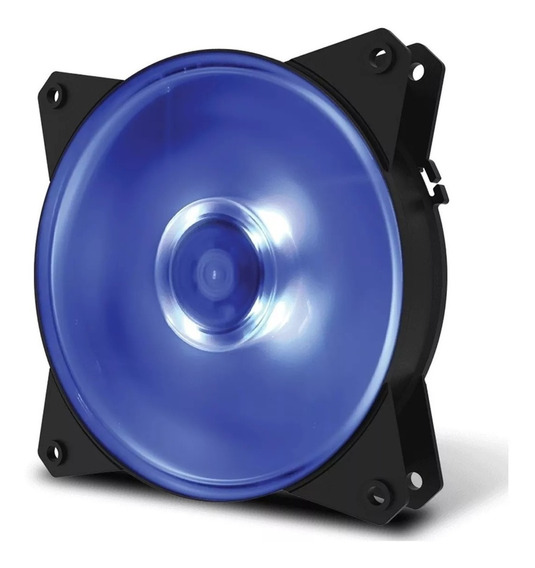 Cooler Fan Para Gabinete 120mm Masterfan Led Azul + Brinde