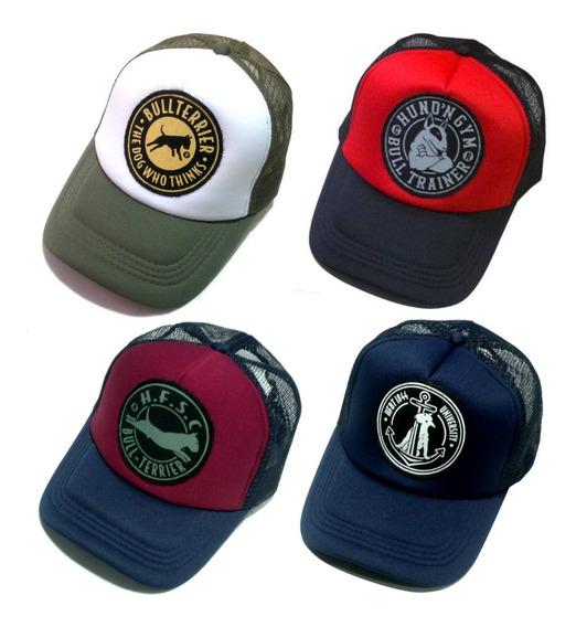 Gorras Trucker Hf ® Bull Terrier - Pack X 4 - A Elección