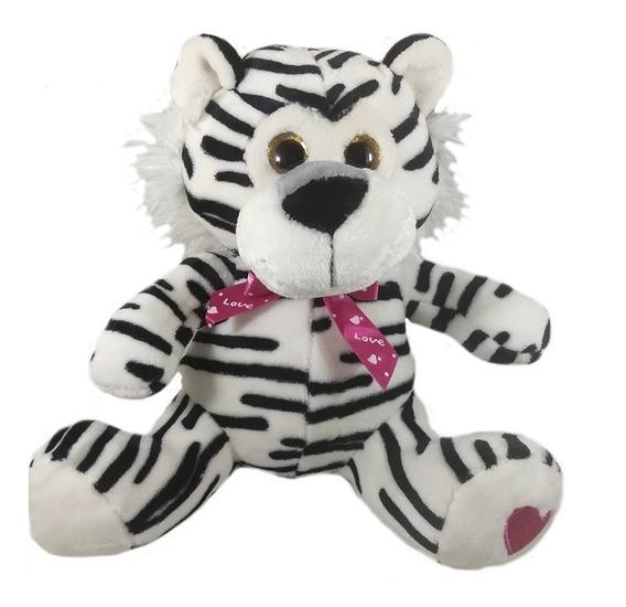 Bicho De Pelúcia Tigre Safari 30cm Presente Promoção