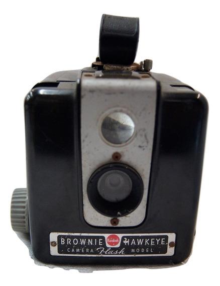 Antiga Câmera Fotográfica Kodak Brownie Hawkeye