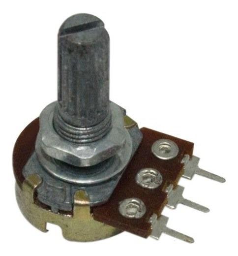 Potenciômetro Linear Kb 16mm 20k Ohms Eixo L20 Sem Chave Ars