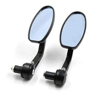 Uxcell 2 Pcs Blue Glass Motorcycle Chopper Cruiser Scooter R