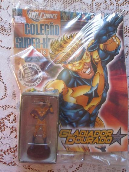 Estátua Eaglemoss Super-heróis 18 - Gladiador Dourado