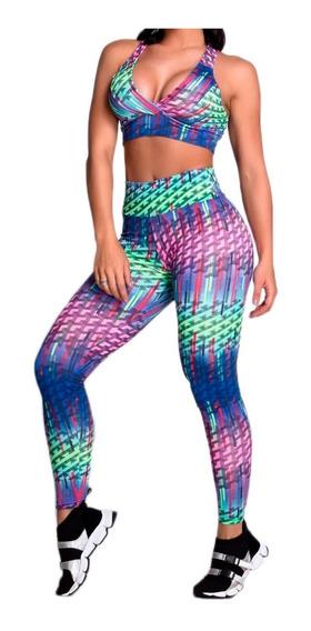 03 Conjuntos Calça Legging + Top Moda Fitness Atacado Roupas