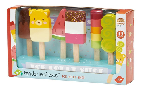 Imagen 1 de 5 de Set Paletas De Helados Tender Leaf Toys De Madera Febo