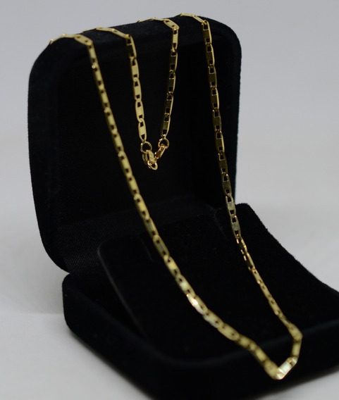 Corrente Piastrine Ouro 18k 750