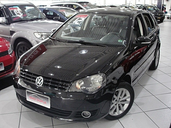 Volkswagen Polo 1.6 I-motion 2012 Completo + Couro E Rodas