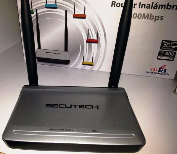 Router Secutech Dos Antenas 300 Mbps-ris-225 C/factur-40vds