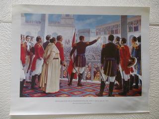 16- Lamina Proclama Independencia Peru 28/07/1821