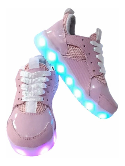 Zapato Tenis Led Niño (luces - Luminosos) Usb Recargable