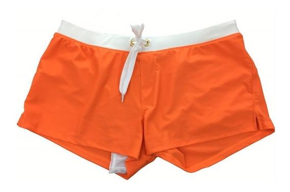 Sunga Short Com Zip Hot Praia Biquini Masculina