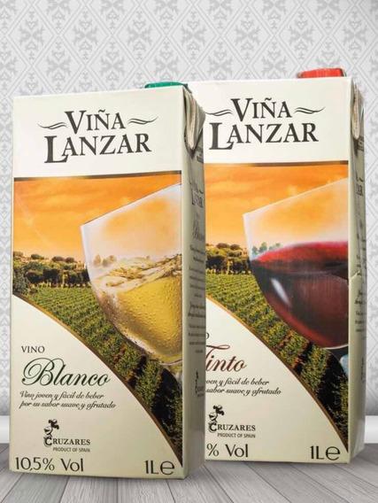 Vino Español Viña Lanzar Tetrapack 1 Litro, 12 Unidades