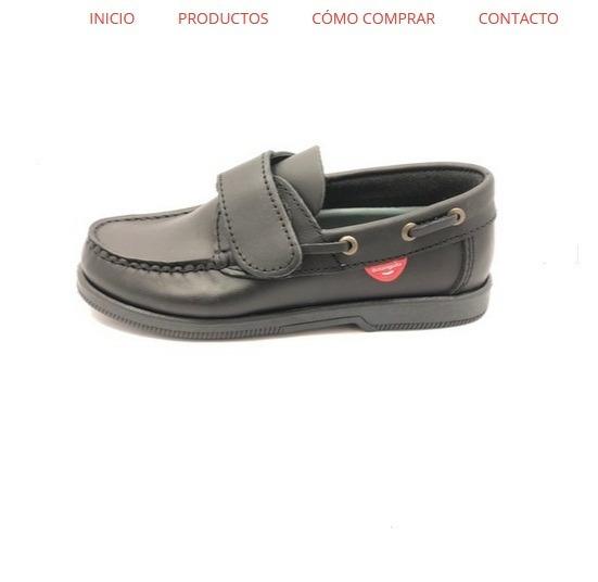 Botanguita Zapato Colegial Ronny Velcro Cuero Vacuno