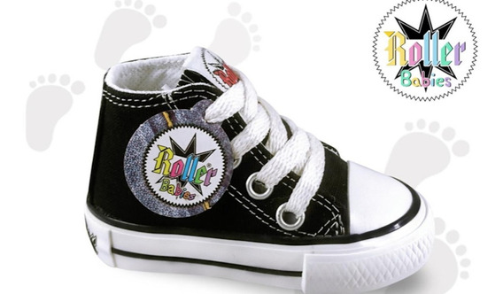 Zapatillas Bota- Roller Negras Lona