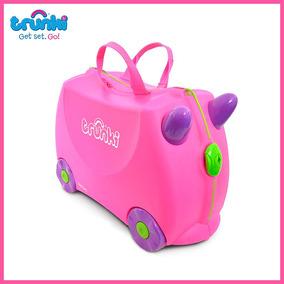 Maleta Viaje Niña Trunki Pink Trixie Ride-on Suitcase