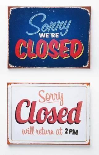 Cuadro Sign Closed 30x40 Cm Surtido Kare (35497)