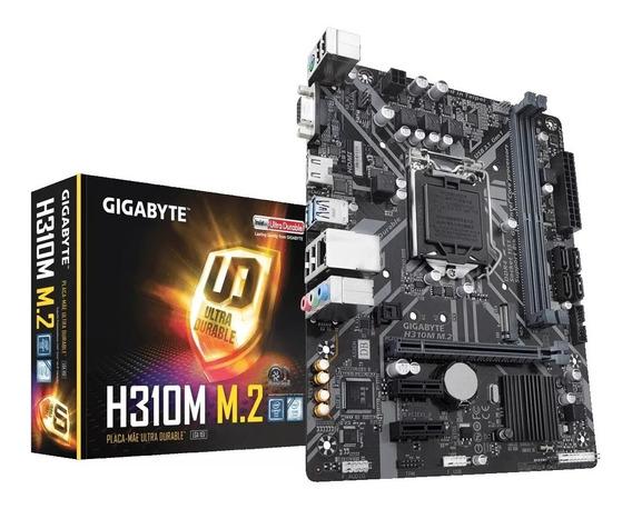 Placa-mãe Gigabyte P/ Intel Lga 1151 H310m M.2 2.0 Ddr4