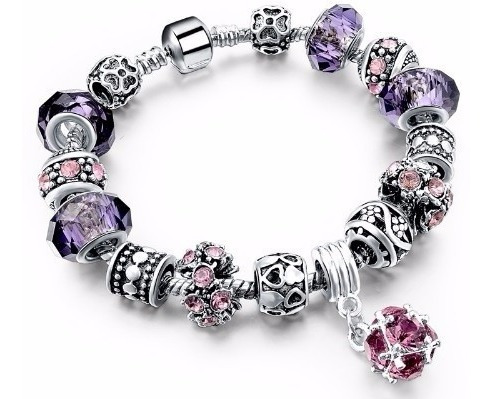 Pulseira Bracelete Pandora Berloque Charm Prata Ouro Life K