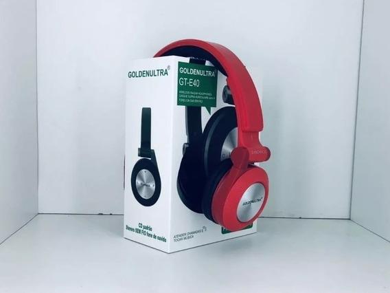 Fone De Ouvido Bluetooth Sem Fio Fm Rádio Mp3