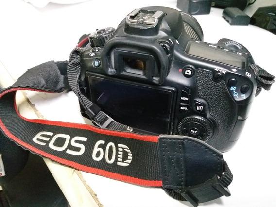 Câmera Canon 60d +lente 18-135mm +flash 580ex Ll