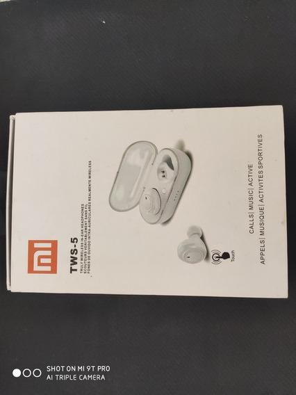 Fone Bluetooth Tws-5 Xiaomi Redmi Airdots Branco