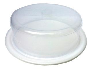 Tortera Plastica Circular Avila Con Tapa Transparente