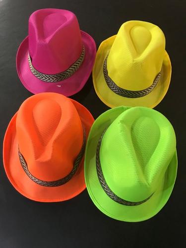 Promo 10 Sombrero Tela Fluo! Increible!