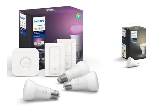 Philips Hue Kit  White And Colors +2 Led Dicroica Nueva Gtia
