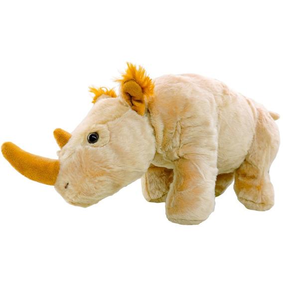 Pelúcia Rinoceronte Safári Caramelo Com 37 Cm De Comprimento