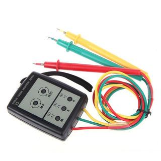 Fasímetro Digital Com Sonoro Indicador De Rotação De Fase Po