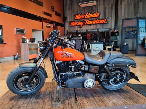 Harley-davidson Fat Bob 96 Laranja 2013/2014