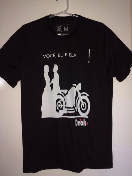 Camisa T Shirt Deck - Paixão Por Moto Preta