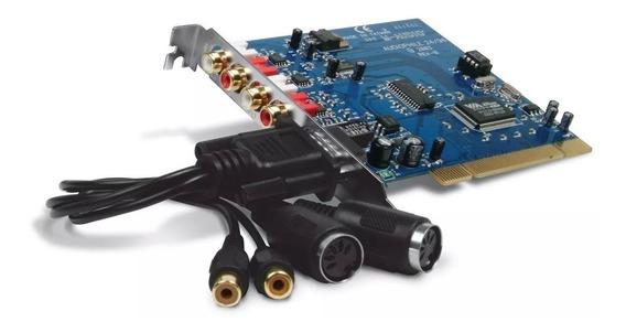 Placa De Som Audiophile 2496 M-audio Pci Audiophile2496 Novo