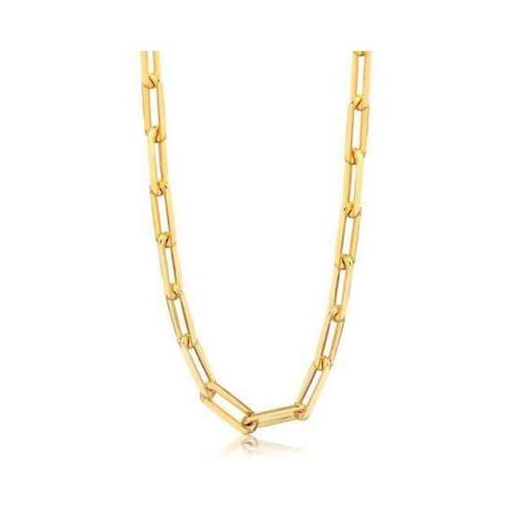Corrente Masculina Cartier Banhada A Ouro Dourado 60 Cm